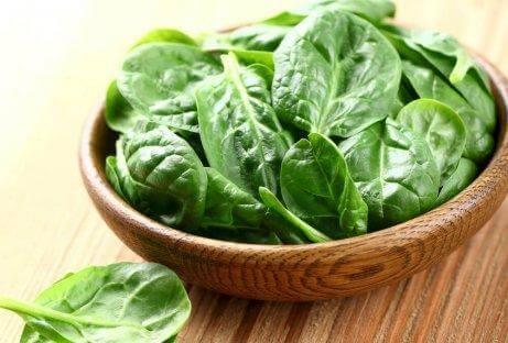 E-vitamiinia pinaatista
