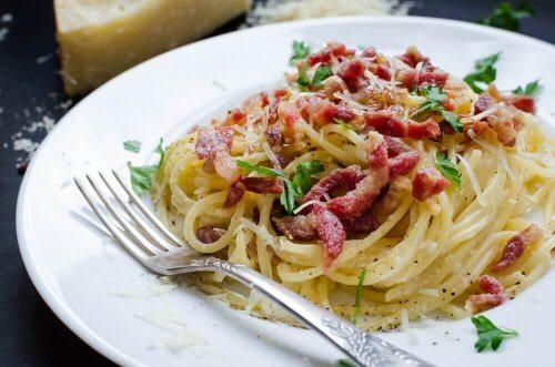 Herkullinen pasta carbonara