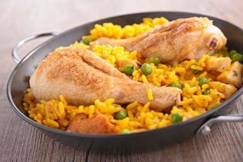 Kanaa ja riisiä espanjalaisittain
