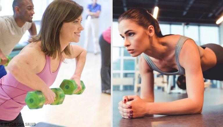 5 harjoitusta rintojen pienentämiseksi