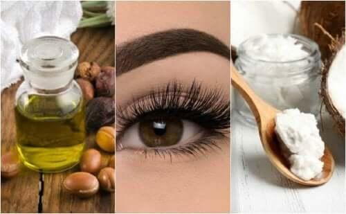 E-vitamiiniöljyllä ja kookosöljyllä saa tuuheat silmäripset