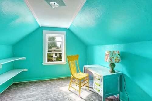 sininen lastenhuone