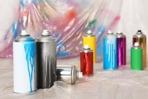 Spraymaaleja löytyy useita erilaisia