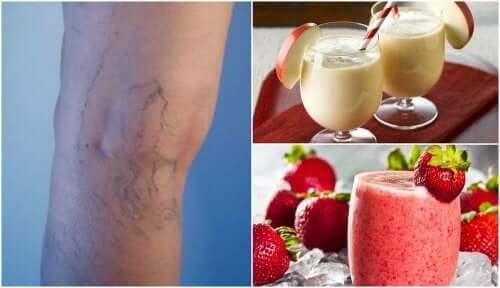 5 smoothieta suonikohjujen vähentämiseksi ja verenkierron parantamiseksi