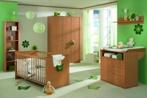 parhaat värit lastenhuoneeseen: vihreä