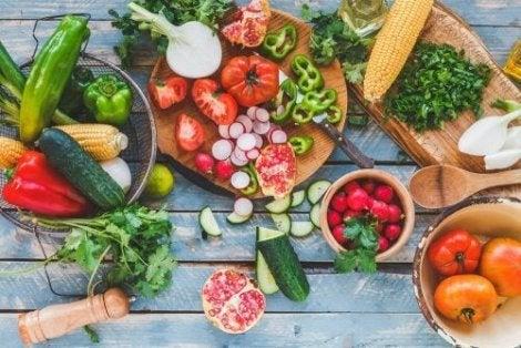 Välimeren ruokavalio sisältää paljon kasviksia