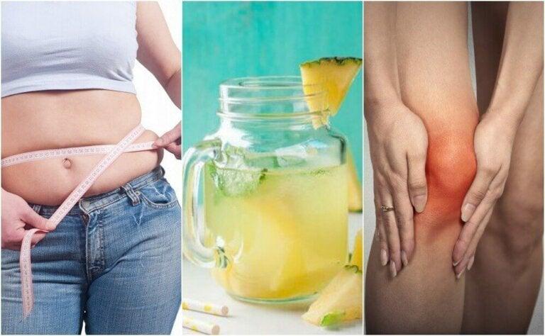 Ananasveden hyödyt terveydelle