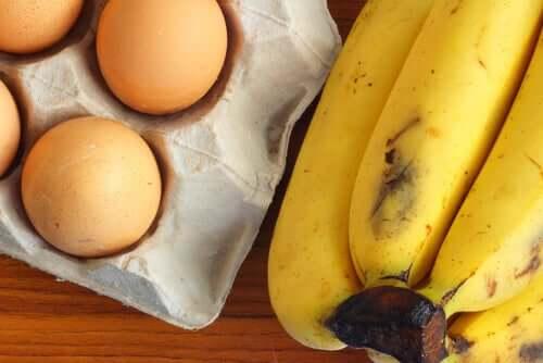 Banaani ja kananmunat tuovat fitness-leipään sekä runsaasti proteiinia että energiaa