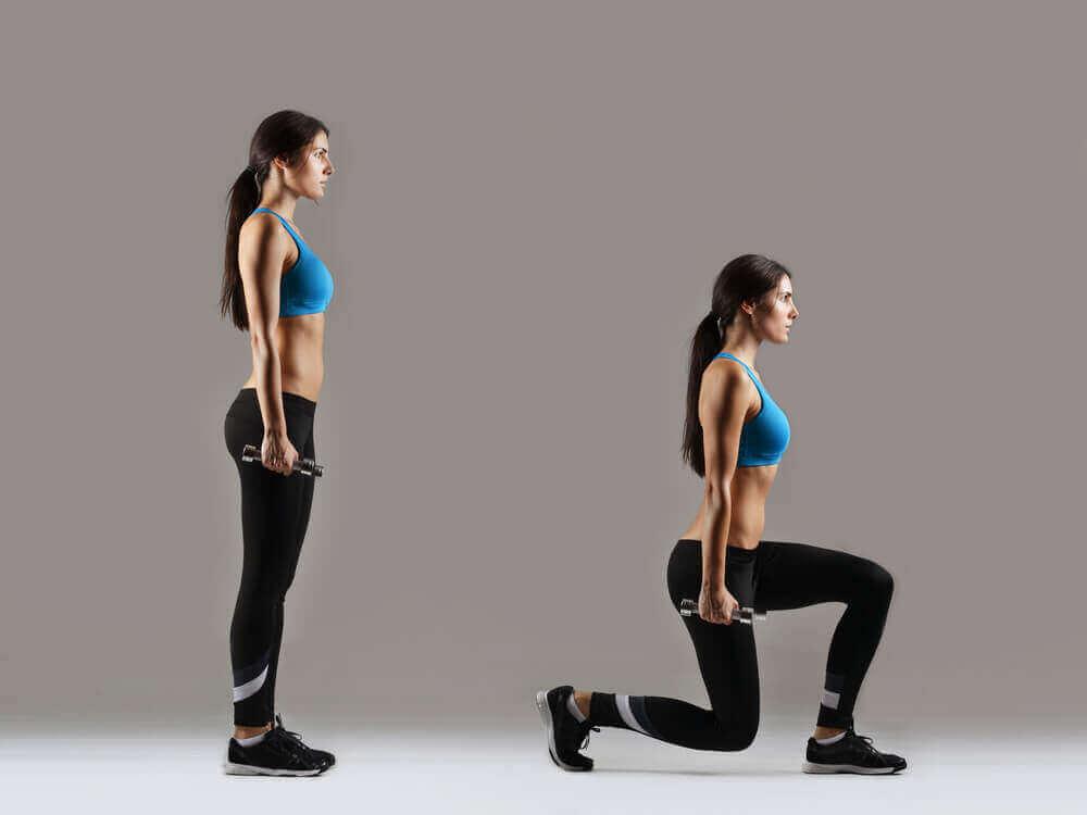 Askelkyykyt ovat hyviä harjoituksia jalkalihasten kasvattamiseen