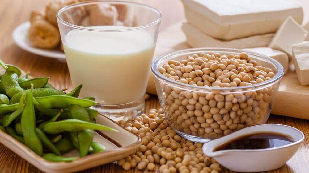 Kalsiumpitoiset kasvikset: soija.