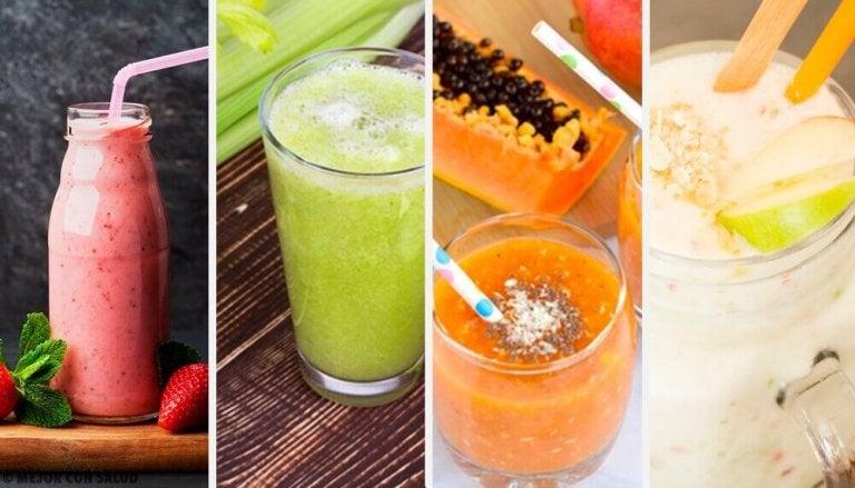 Terveelliset smoothiet: 4 herkullista reseptiä