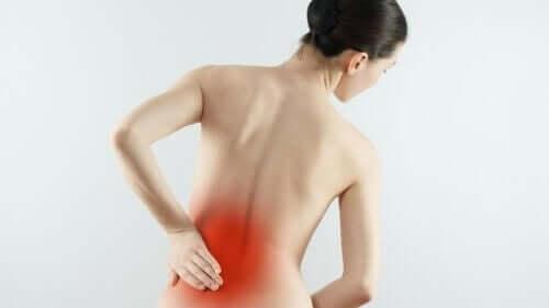 Selkärangan nivelrikko aiheuttaa kipua selässä