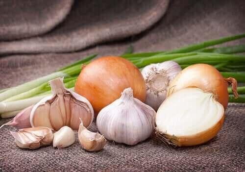 Valkoisissa vihanneksissa on kversetiiniä ja allisiinia