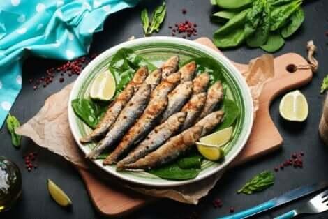 Sardiinit sisältävät terveydelle hyödyllisiä ravintoaineita