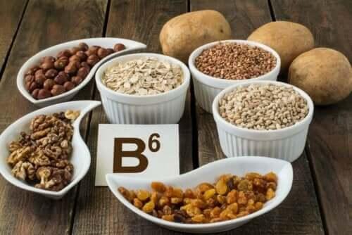 B-ryhmän vitamiinit sisältävät yhteensä kahdeksan eri vitamiinia, joista yksi on B6 eli pyridoksiini