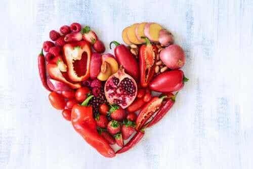Punaisten hedelmien ja vihannesten ravintoarvo