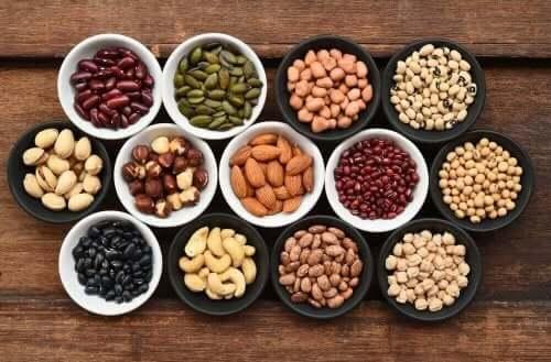 Yhden B-vitamiinin parhaat kasviperäiset lähteet ovat viljat ja palkokasvit