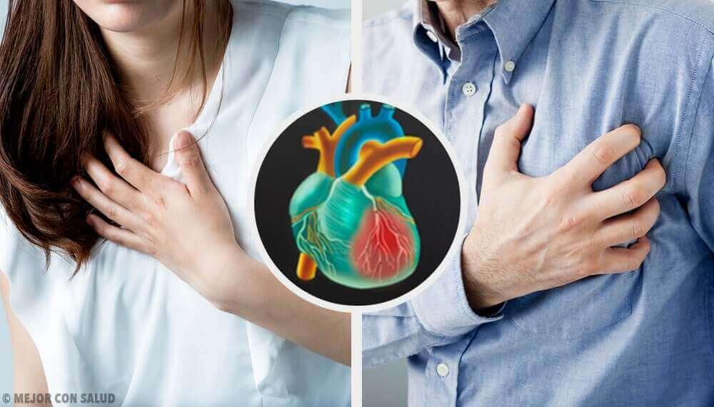 Sydänkohtauksen oireet ovat erilaisia miehillä ja naisilla.