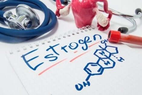 Naisen sukupuolihormonit vaikuttavat muun muassa kuukautiskiertoon