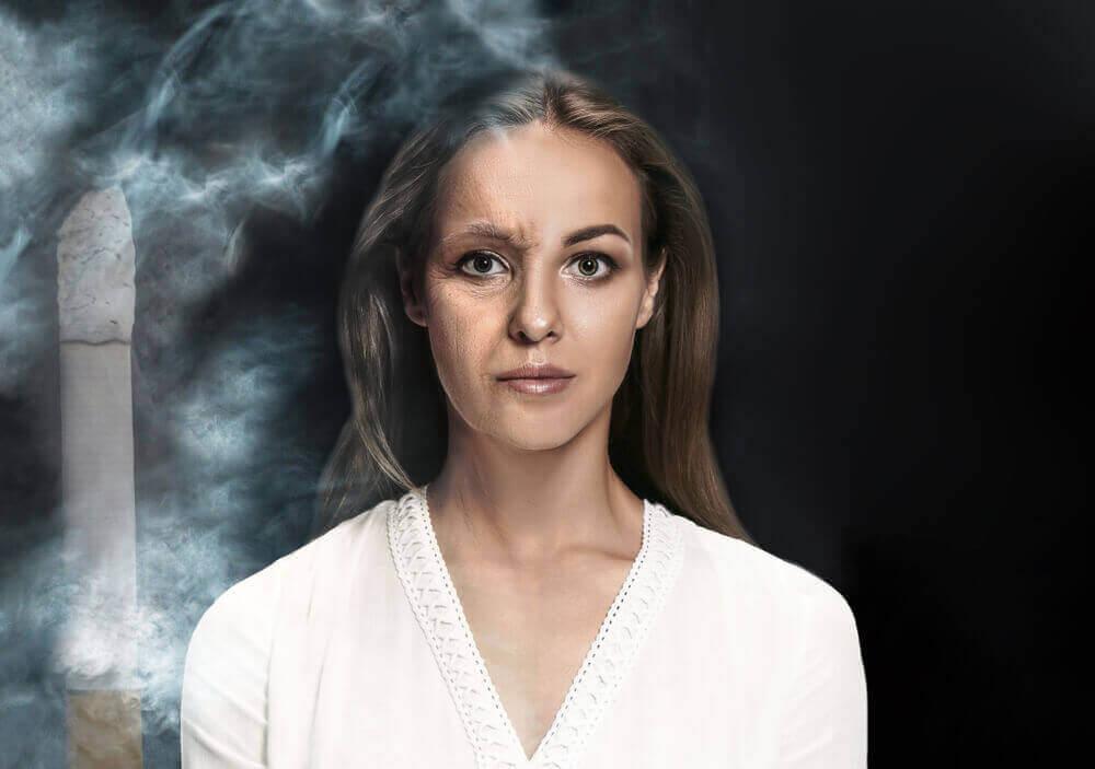 Tupakointi voi aiheuttaa harmaita hiuksia nuorena.