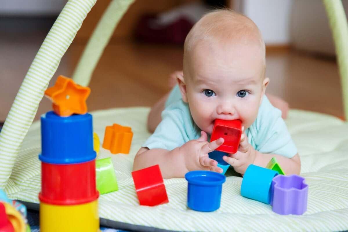 Vauvat tutkivat ympäröivää maailmaa aistiensa avulla.