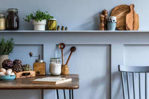 Lineaariset keittiöt ja yksityiskohdat